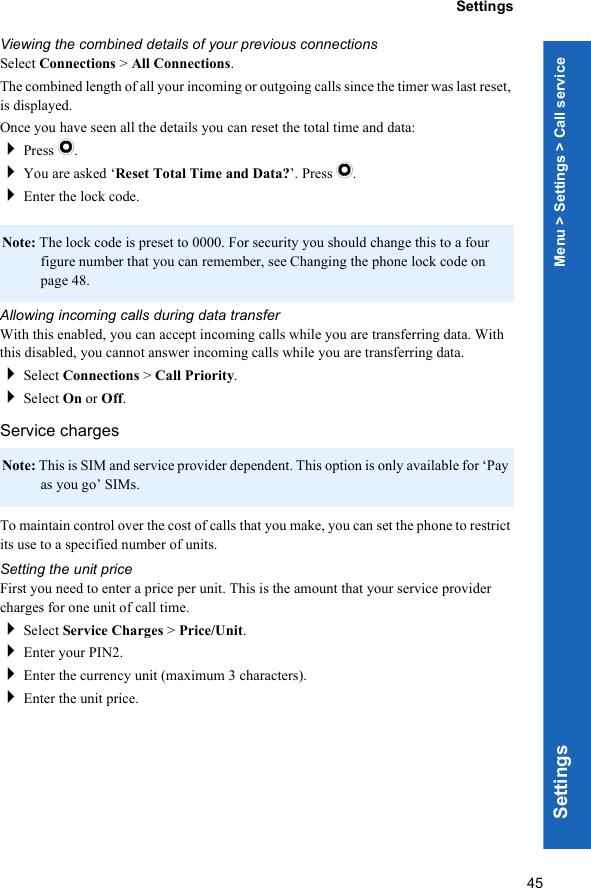 Panasonic P342I Part 1 Operating Instructions
