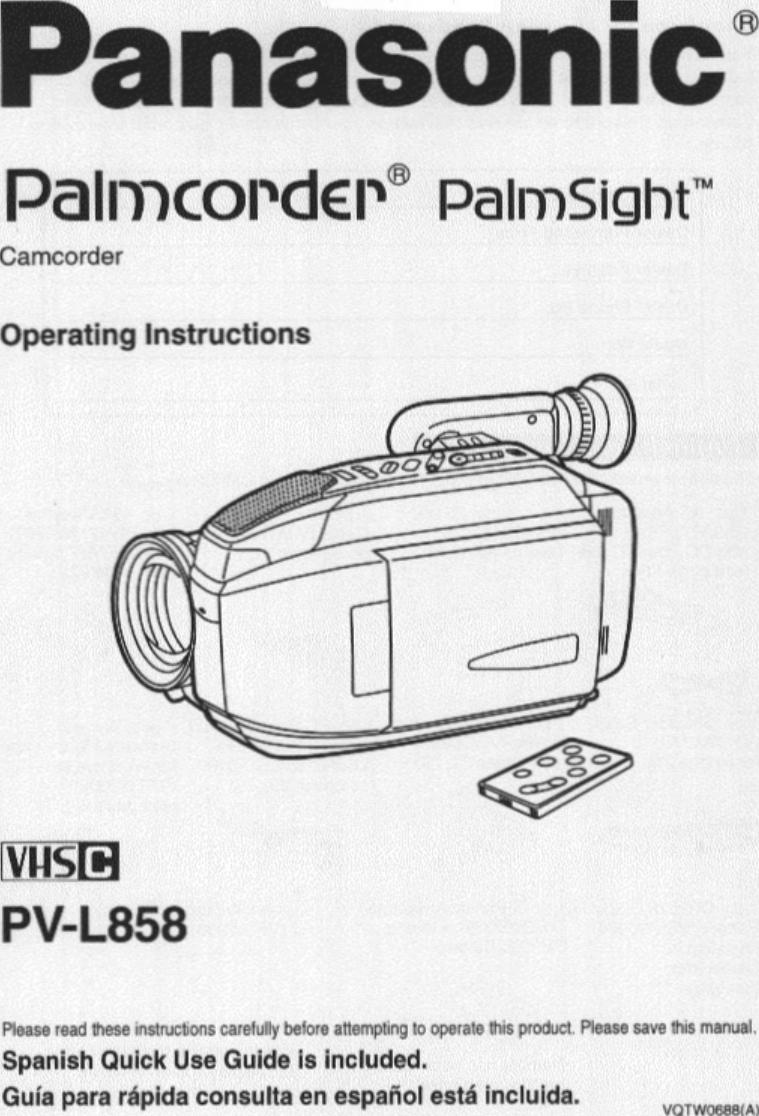 AC Adapter For Panasonic PV-L858 PV-L858D PVL858 VHSC Video Palmcorder PalmSight