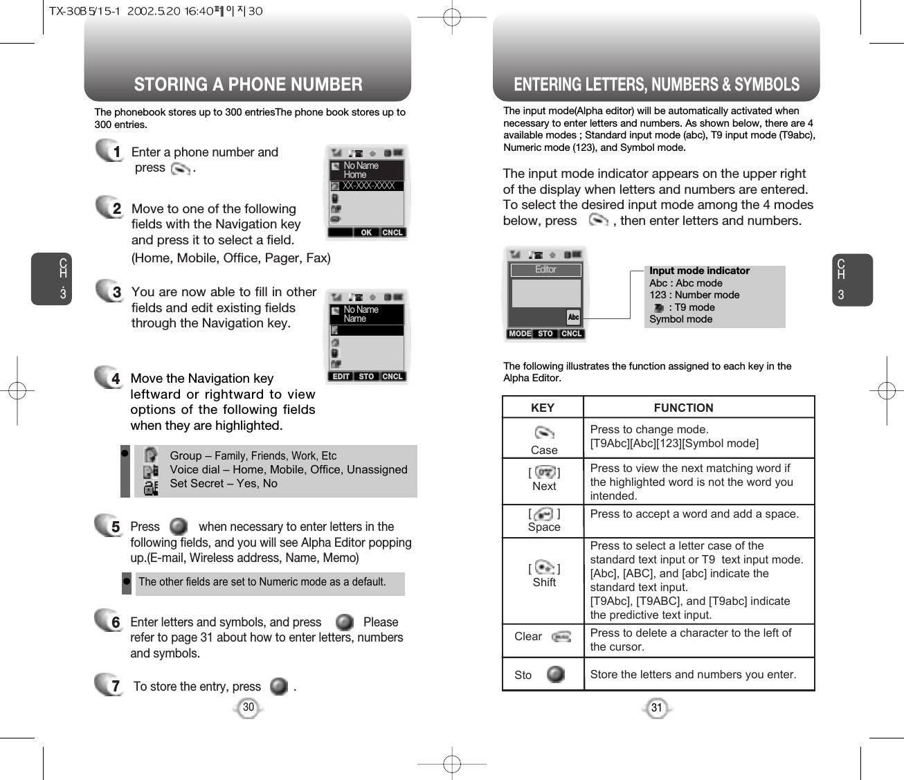 Pantech TxB TrMode DualBand Cellular Phone User Manual Tx B