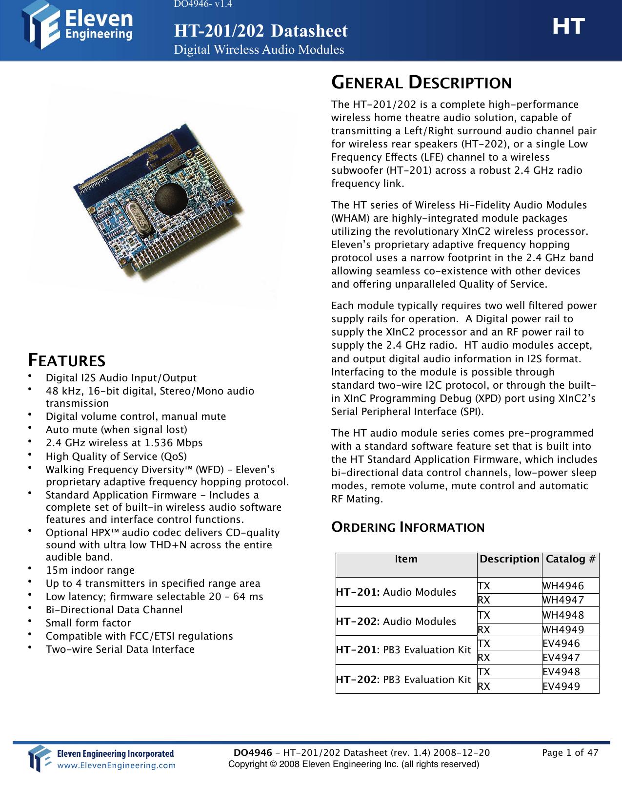 Paradigm Electronics HT205 WIRELESS POWERED SUBWOOFER