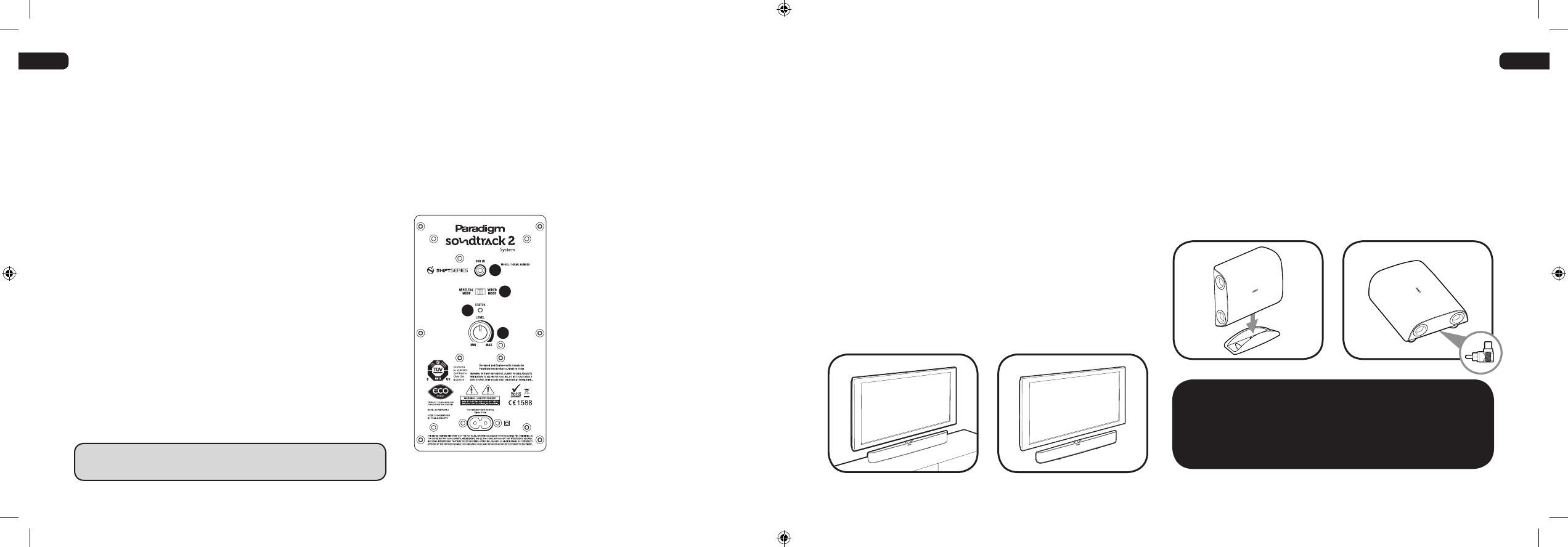 Paradigm Speaker Ce1588 Users Manual