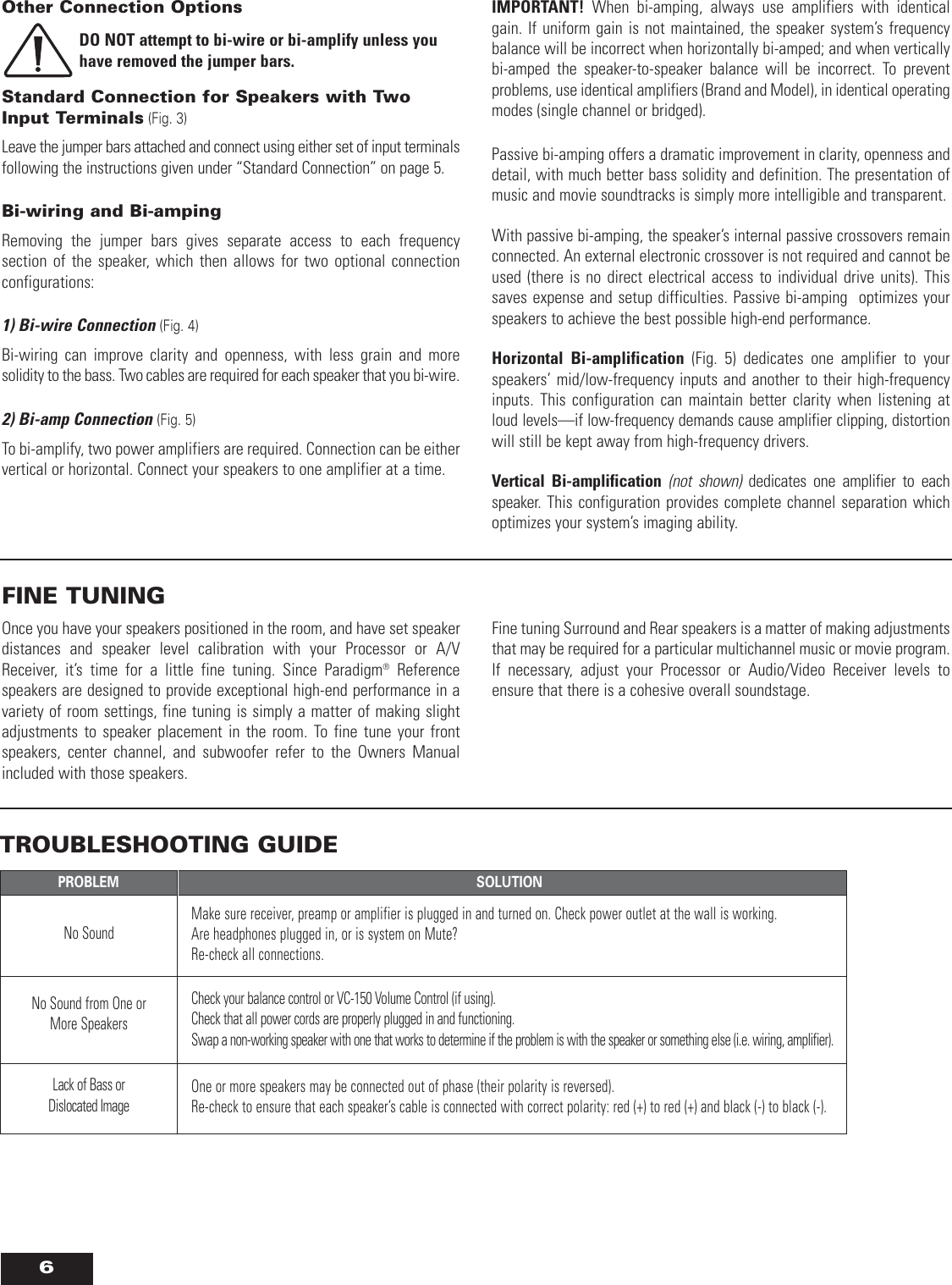Paradigm Speaker Om 560 Users Manual 560_Online_060607