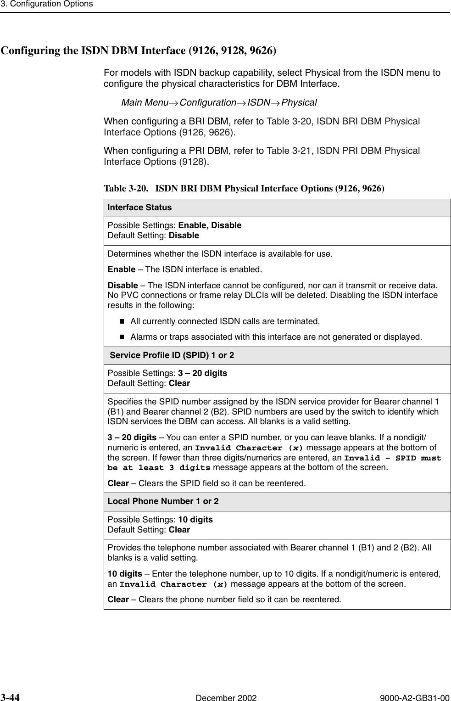 Paradyne Framesaver Slv 9123 Users Manual Configuration