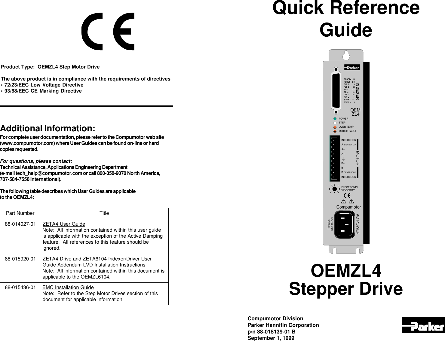 parker hannifin automobile oemzl4 users manual rh usermanual wiki