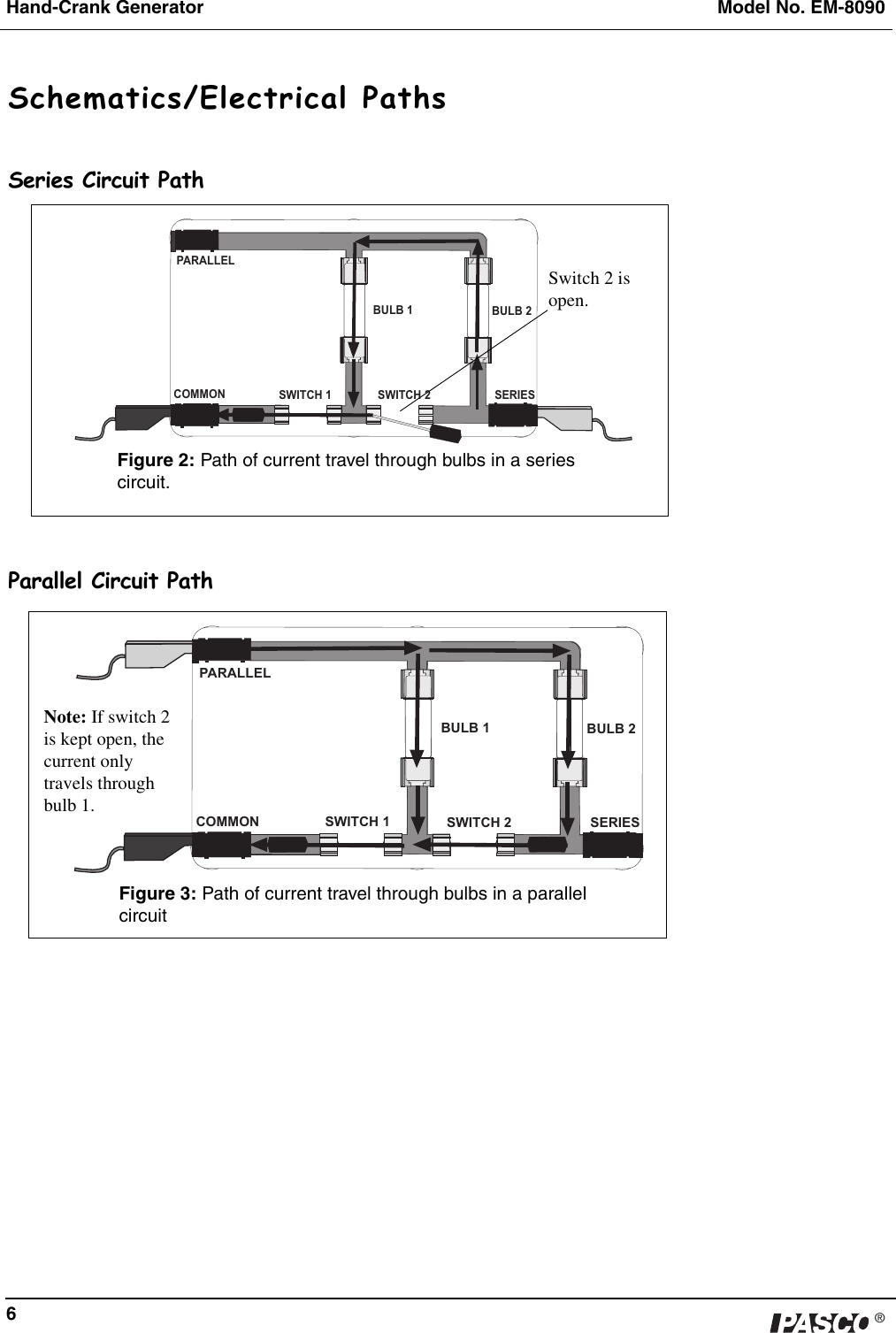 Pasco Specialty And Mfg Hand Crank Generator Em 8090 Users Manual Series Circuit With 3 Bulbs Page 7 Of 9