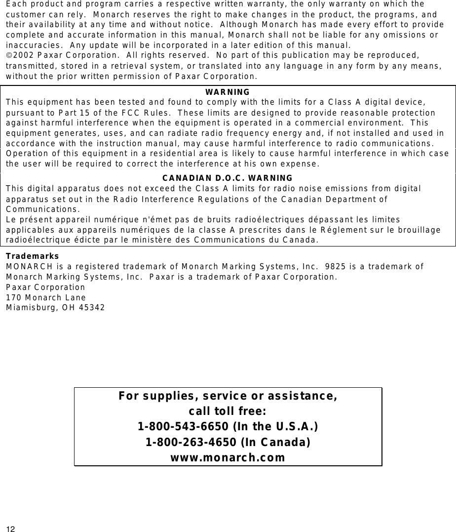 paxar monarch 9825 users manual 9825qr rh usermanual wiki Paxar Corporation Paxar Products