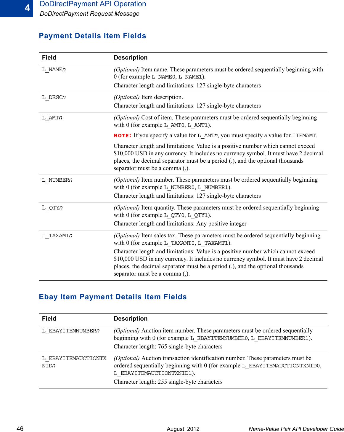 Paypal Name Value Pair Api 2012 Developers Guide Developer