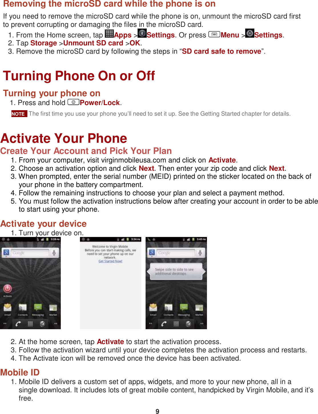 Pcd Chaser Virgin Mobile Users Manual
