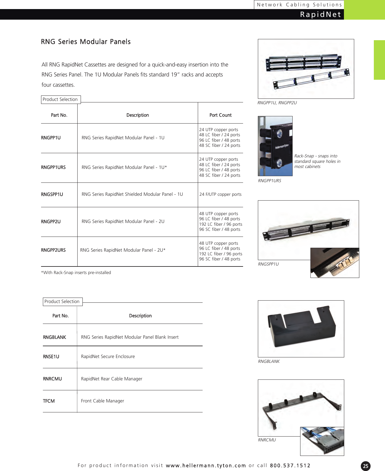 Hellermann Tyton FERM36S Rack Mount Fiber Enclosure-Unloaded BK 2U Accepts 6 Adapter Panels for Fiber Counts 36//48