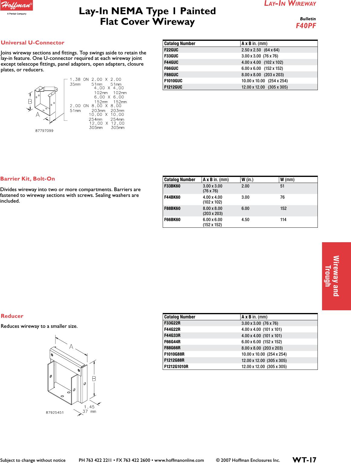 "Hoffman Steel Painted NEMA 1 Hinge-Cover Wireway 72/"" x 4/"" x 4/"" F44G72 6 feet"