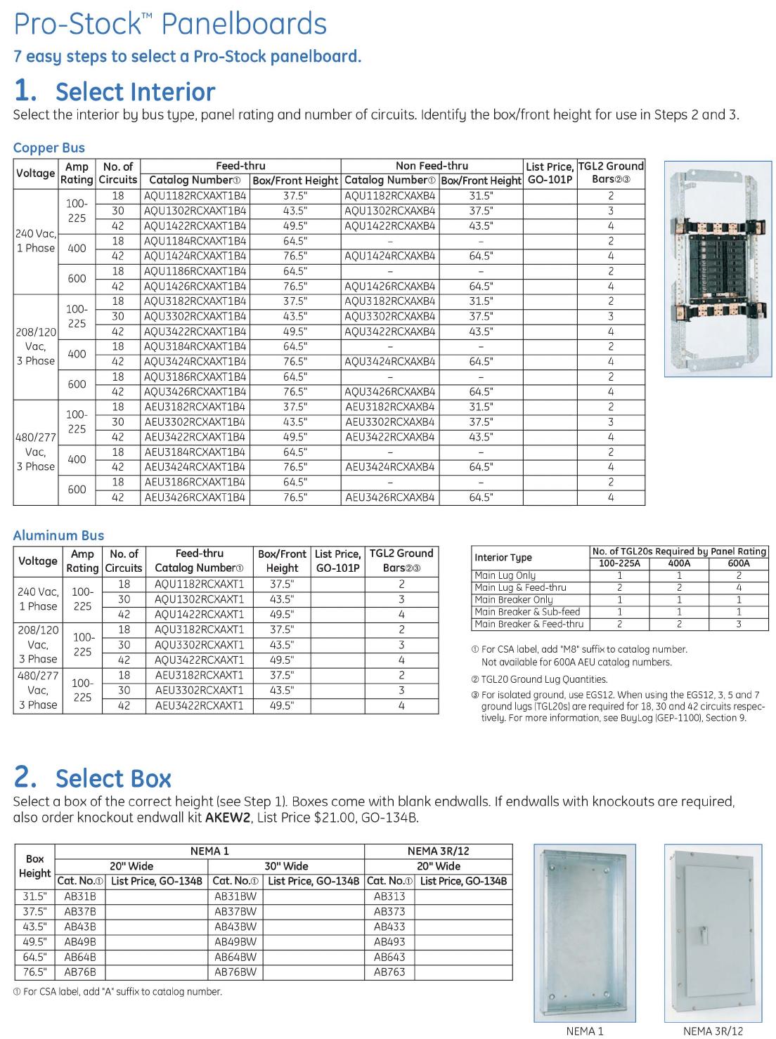 DEP104D ProStock Sel Guide Brochure
