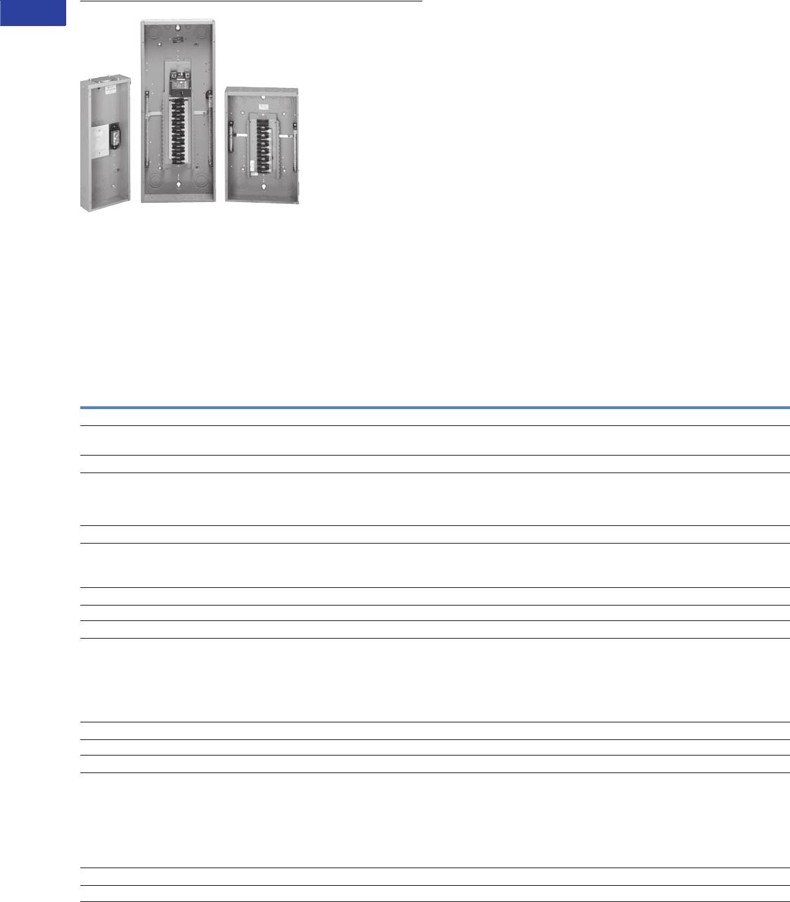 Volume 1 Tab Brochure Space 4circuit Outdoor Singlephase Main Lug Circuit Breaker Panel