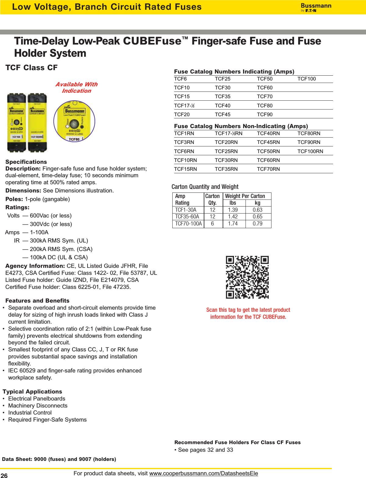 Bussmann Full Line Catalog # 1007 1000291624