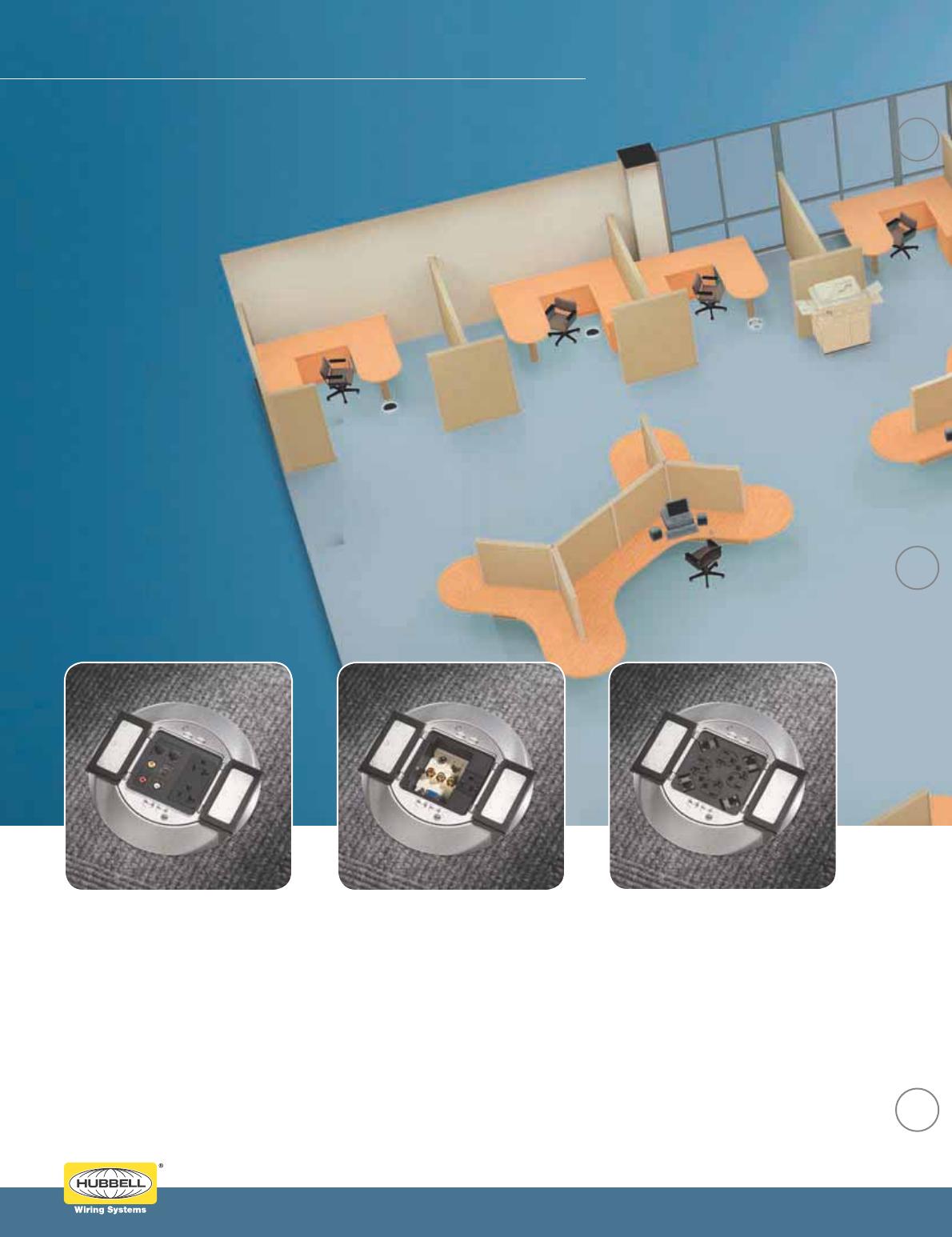 Hubbell PFBCGYA Scrubshield Cover Carpet Flange Gray Plastic for PFB1 Floor Box