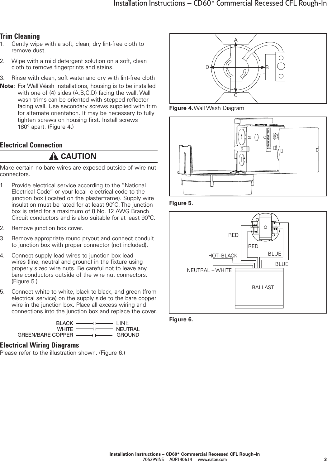 Portfolio Cd60 Commercial Recessed Cfl Rough In Installation Diions Wiring Diagram Page 3 Of 10 Instructions Directions