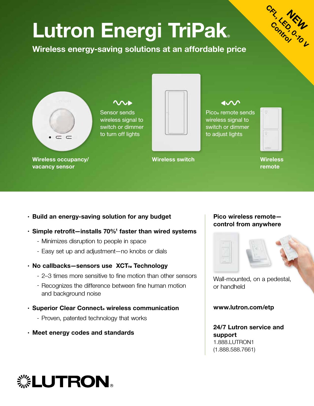 Lutron Energi Tripak Quick Install Guide 1000417475 Catalog Dimming Ballast Wiring Diagram Ehdt832mu210