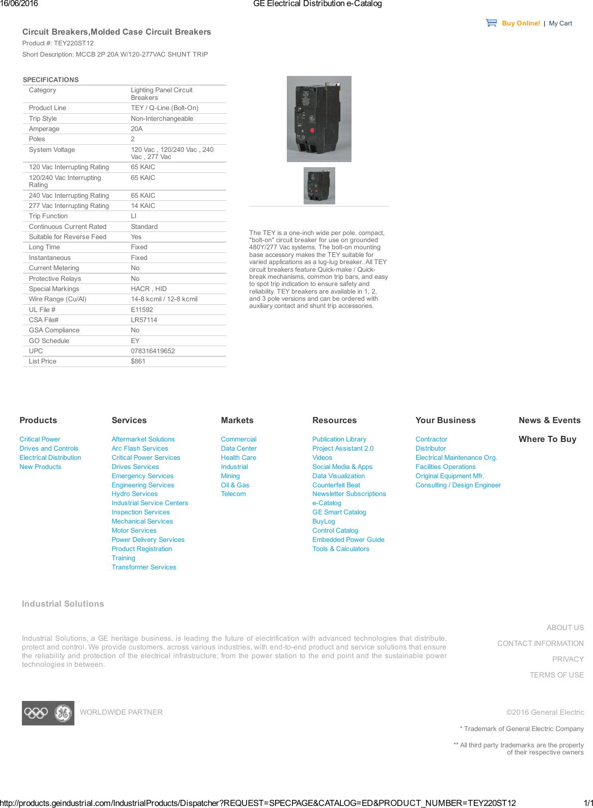 Product Detail Manual General Electric Relay Manuals