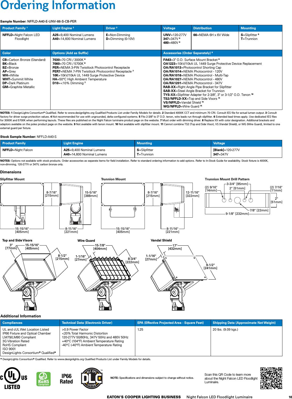 Lumark Night Falcon LED Floodlight Brochure 1000441946 Catalog on