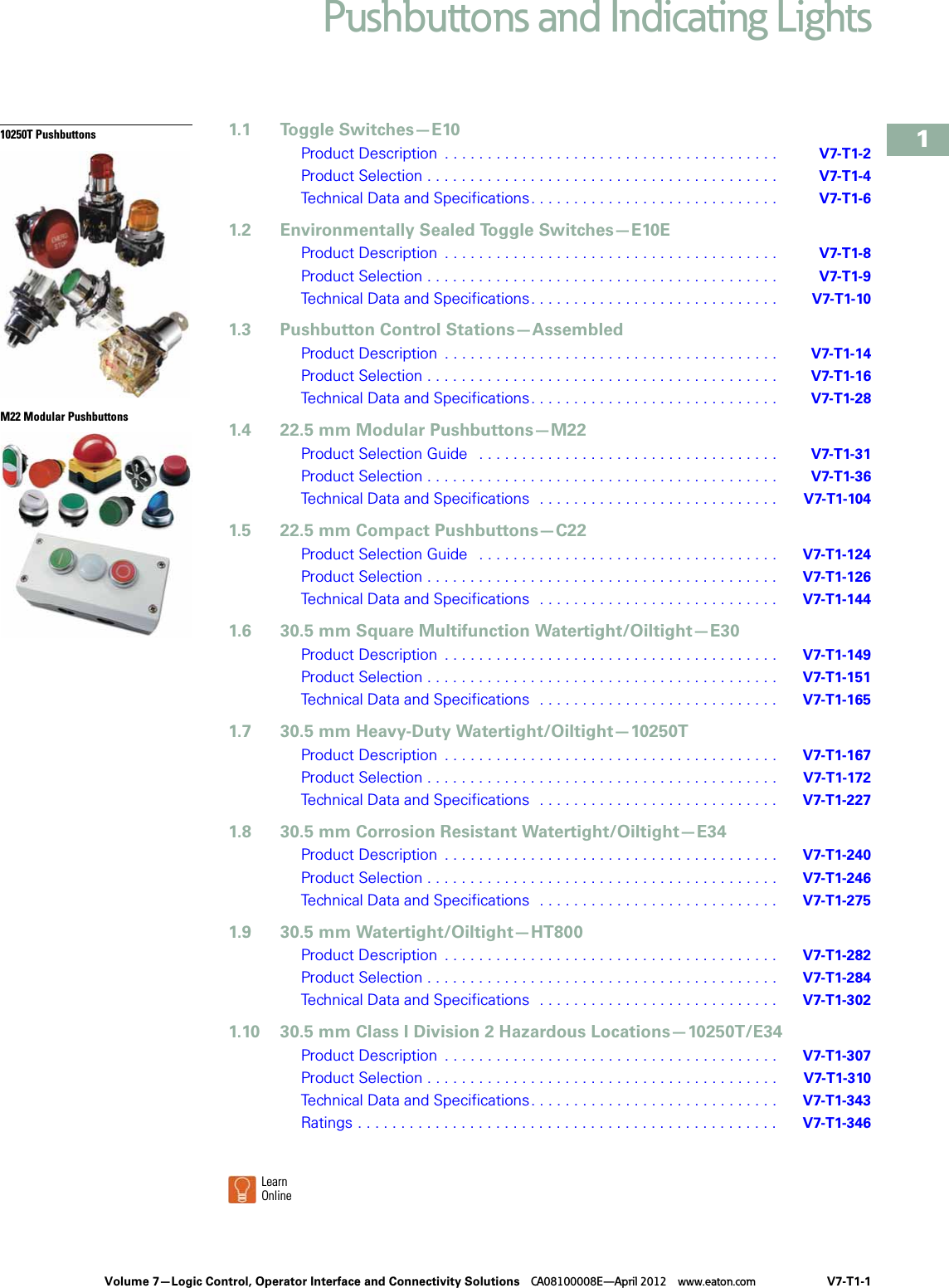 Volume 7 Tab 1 1000460209 Catalog