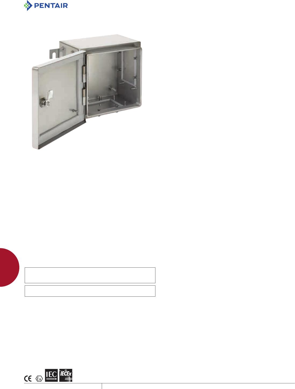 ATEX48P48 White Steel Panel 434 mm Enclosure ATEX48P48 ZonEX ATEX-Certified Hazardous Location Enclosures