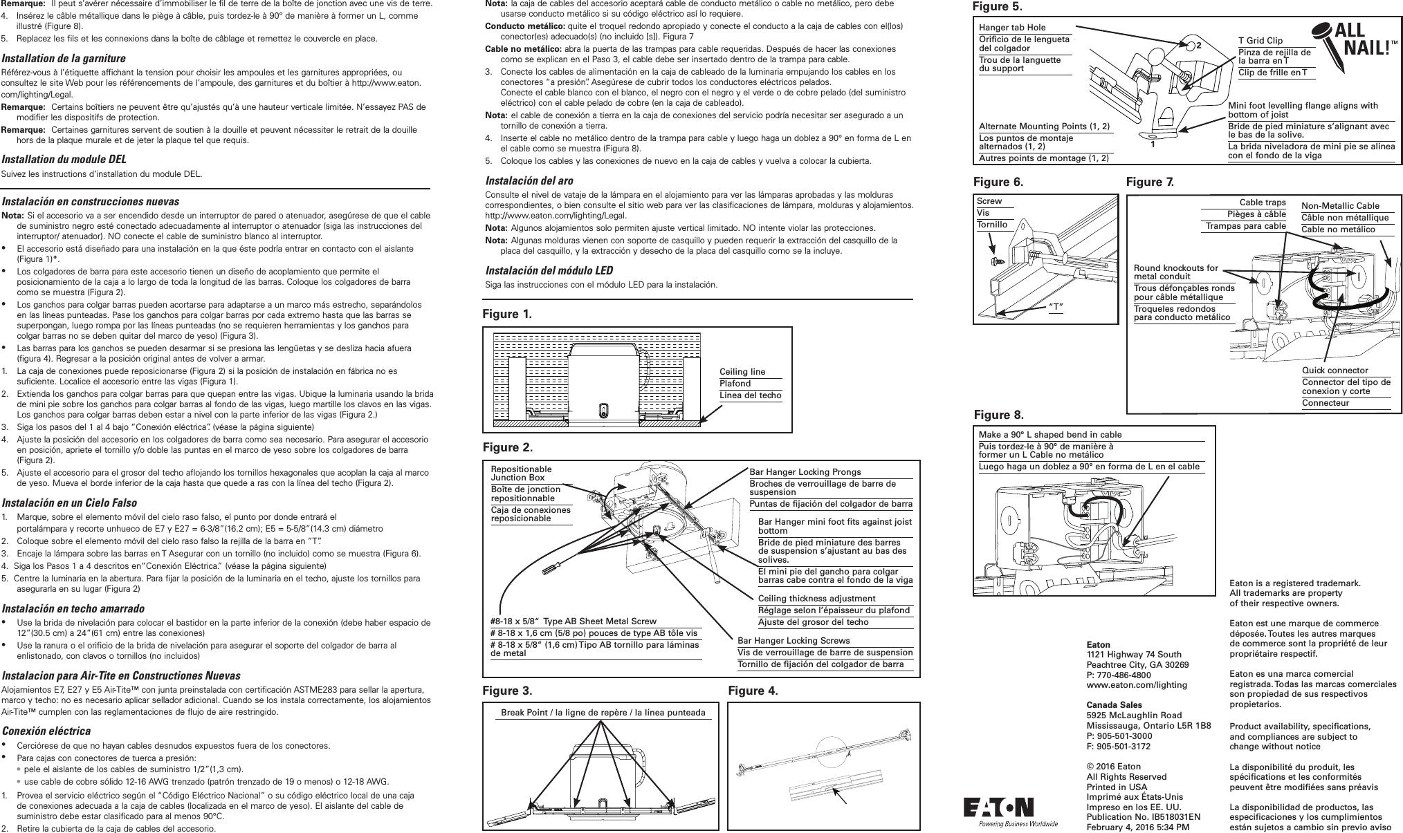 new arrival 077ab e0063 Halo E26 E7, E27, E5 ICAT Housing Instruction Sheet ...