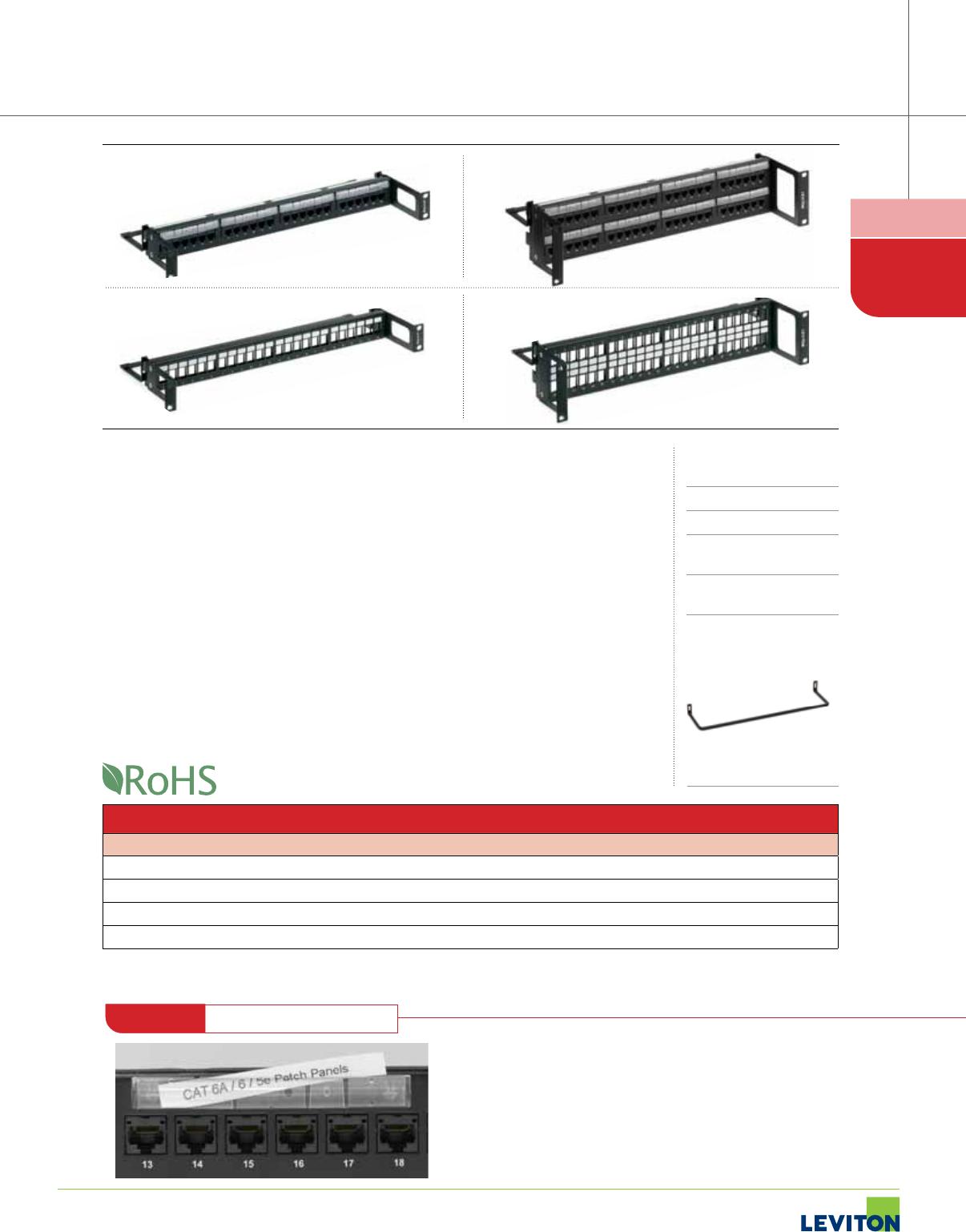 1000491716 Catalog 73 Cat6 Patch Panel 110 Type 24 Port 568a B Compatible