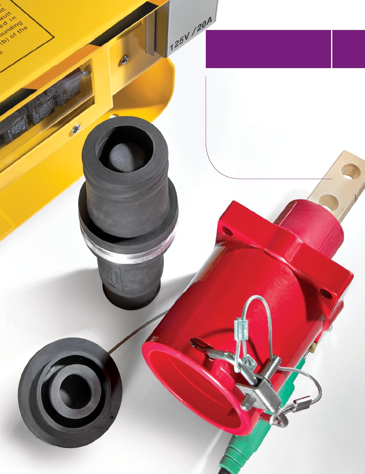Instalacje elektryczne Gniazda elektryczne i wtyczki New Leviton Green Cam Plug Panel Receptacle 16 Series Threaded Stud 400A 16R25-G