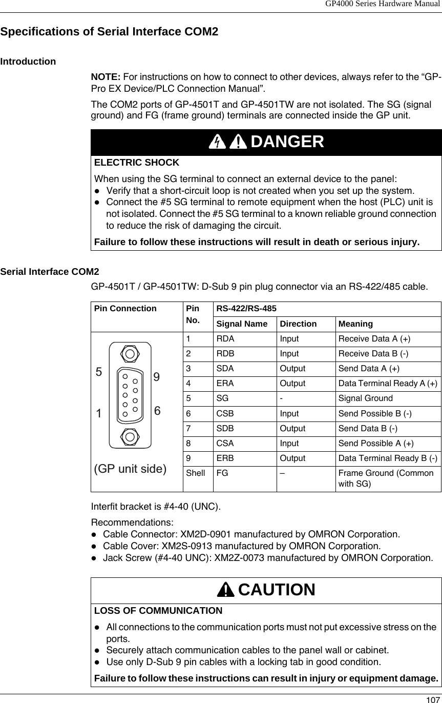 GP4000 Series Hardware Manual 1000492968 Catalog