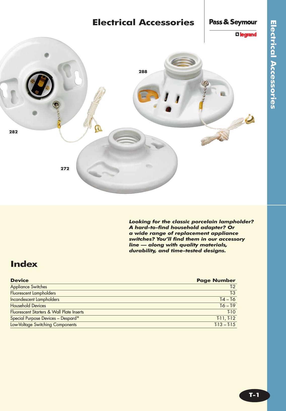 4 Pass /& Seymour Slater ACD1-I Single Pole Switch 120//277VAC 15A