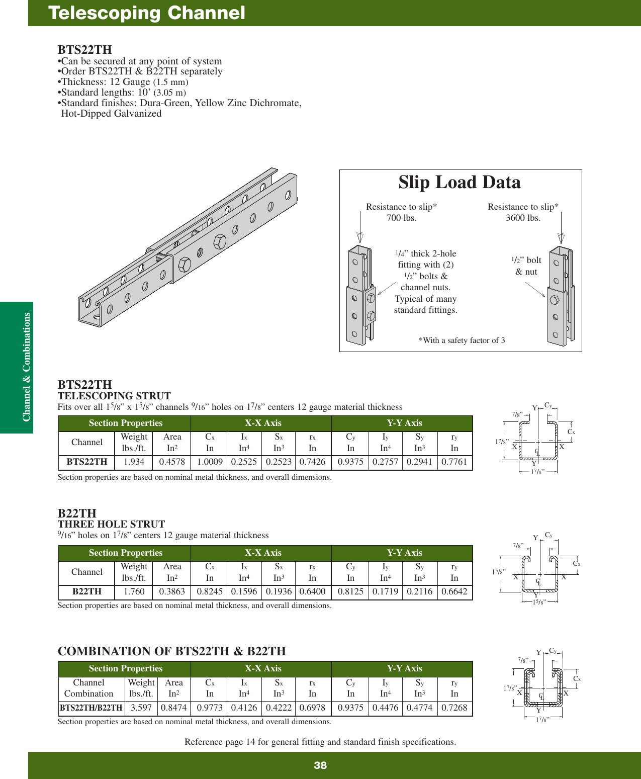 """B-line B217P Plastic Snap Closure Strip for All 15//8"""" Wide Channels 41.3"""