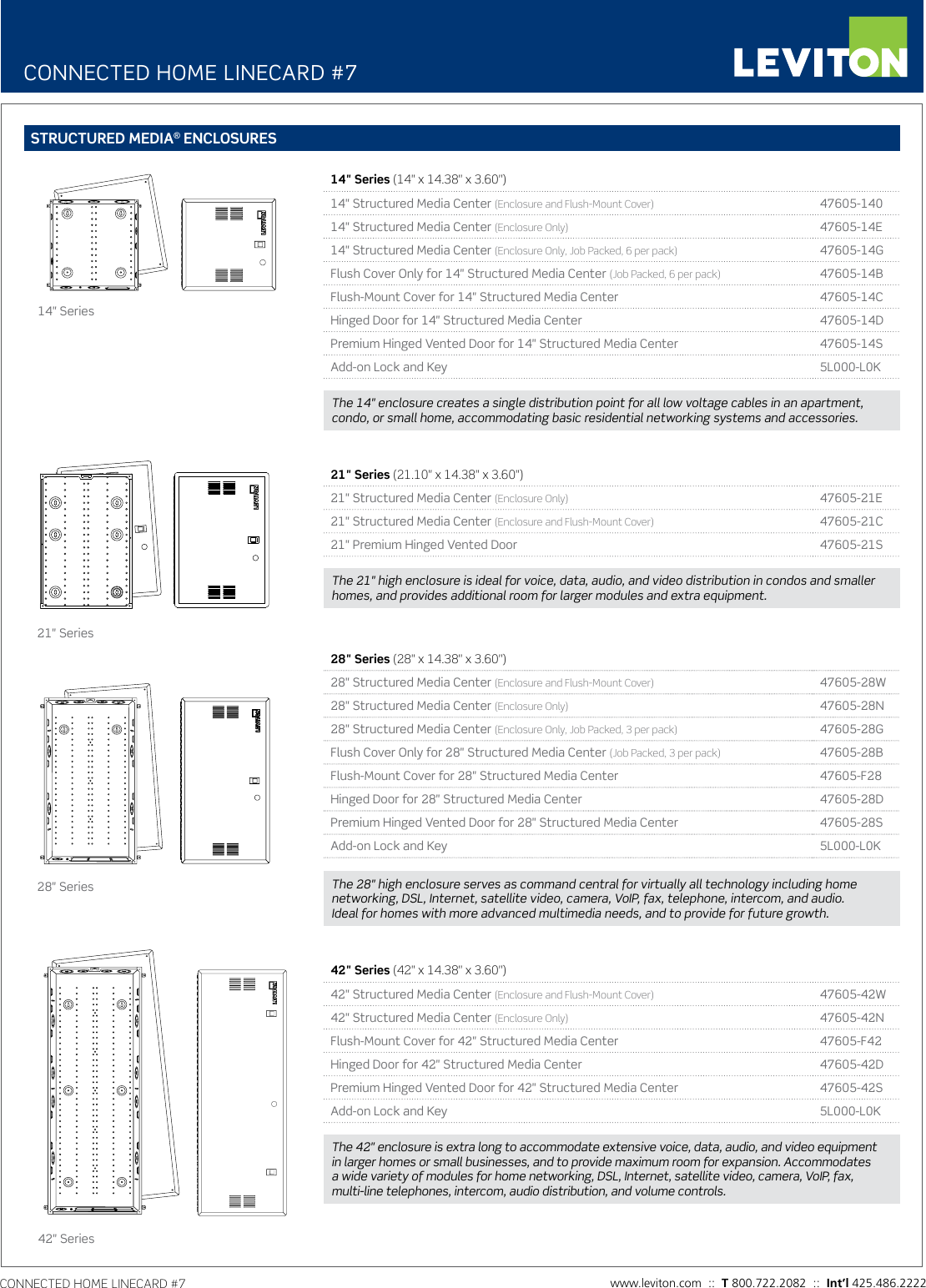 Product Detail Manual Image Of Home Command Center Structured Wiring Panel With 1x8 Coax And Page 1 12