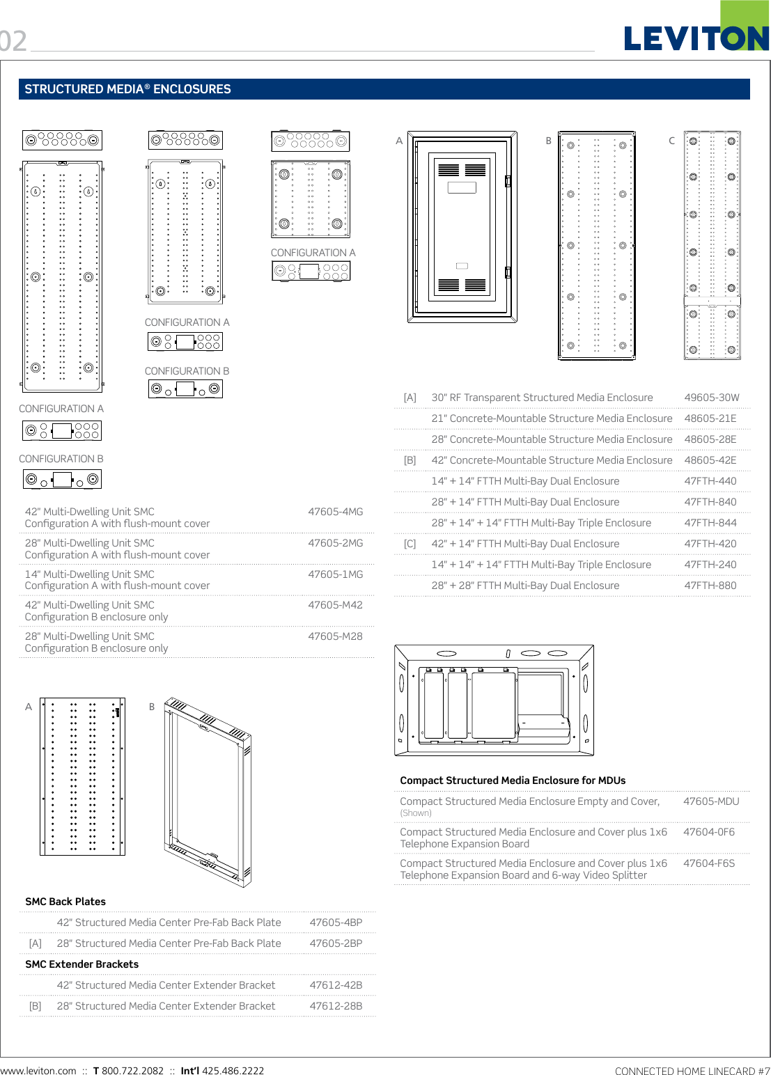 Product Detail Manual Image Of Home Command Center Structured Wiring Panel With 1x8 Coax And Page 2 12