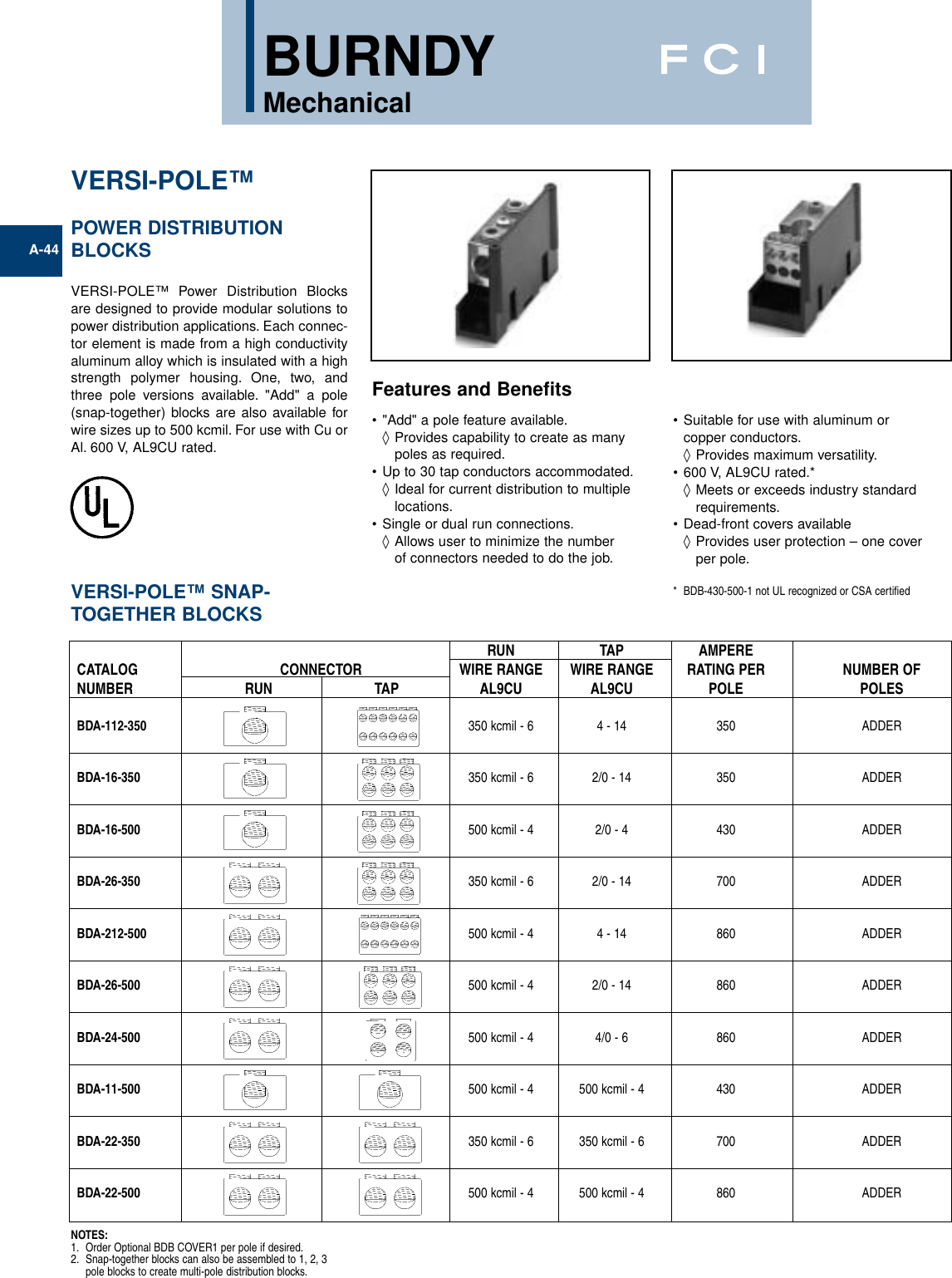 250MCM-6 AWG Line and 250MCM-6 AWG Load Side Configuration 1.71 Width Splicer//Reducers 4.00 Length 1.71 Width 2.62 Height 4.00 Length NSi Industries AM-N1-N1 Connector Blok Power Distribution and Terminal Block 2.62 Height