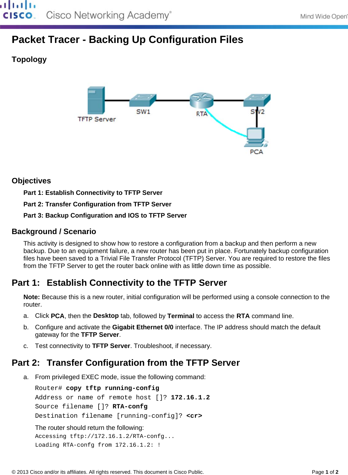 10 3 1 8 packet tracer backing up configuration files instructions