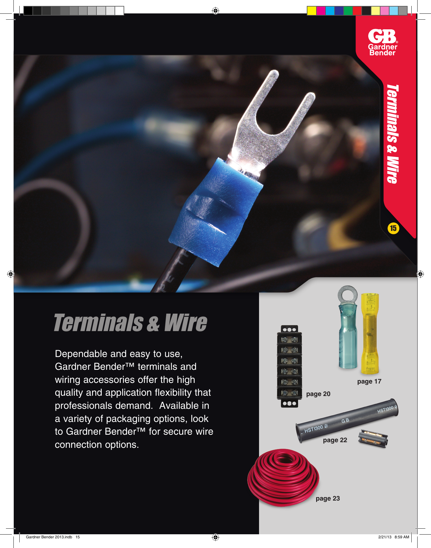 "Gb Electrical 45-V15FBK Grip-strip 8/"" Black"
