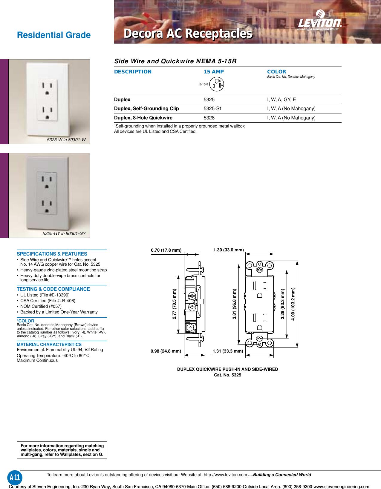 C 646 L 504 Intro/ Update 110014 Catalog Simple Wiring Schematics Liviton on