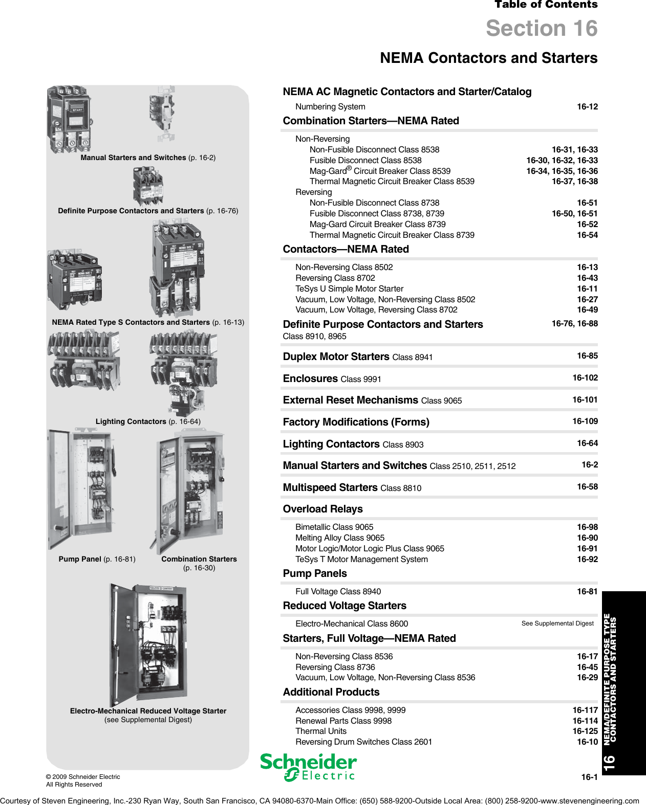 schneider electric digest 175 nema definite purpose type. Black Bedroom Furniture Sets. Home Design Ideas
