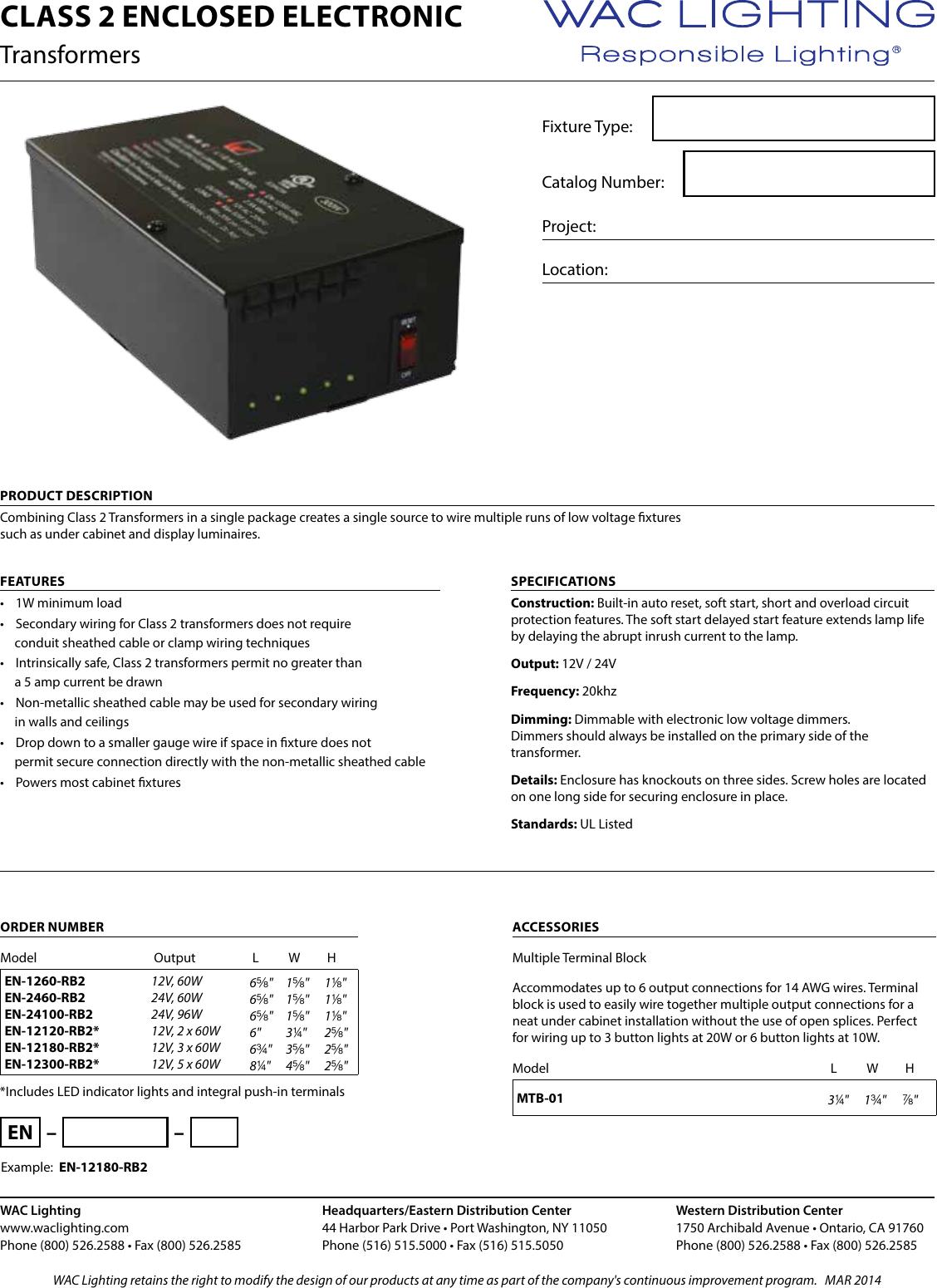 111901 Catalog Awg Wiring Transformer