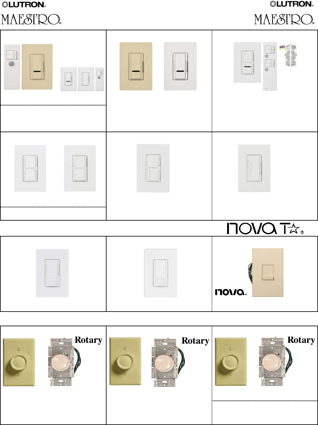 5electrical Material 5517 5539x 113381 Catalog 300pwh Diva 300w Electronic Low Voltage Single Pole Dimmer In White Lutron Dimmers 5529