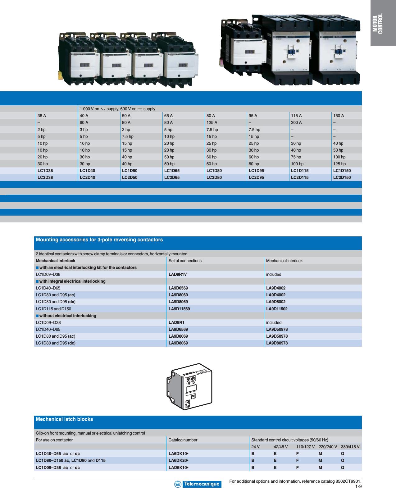 Monitors 3 High Power Ac Contactors Ac On Off Interlock