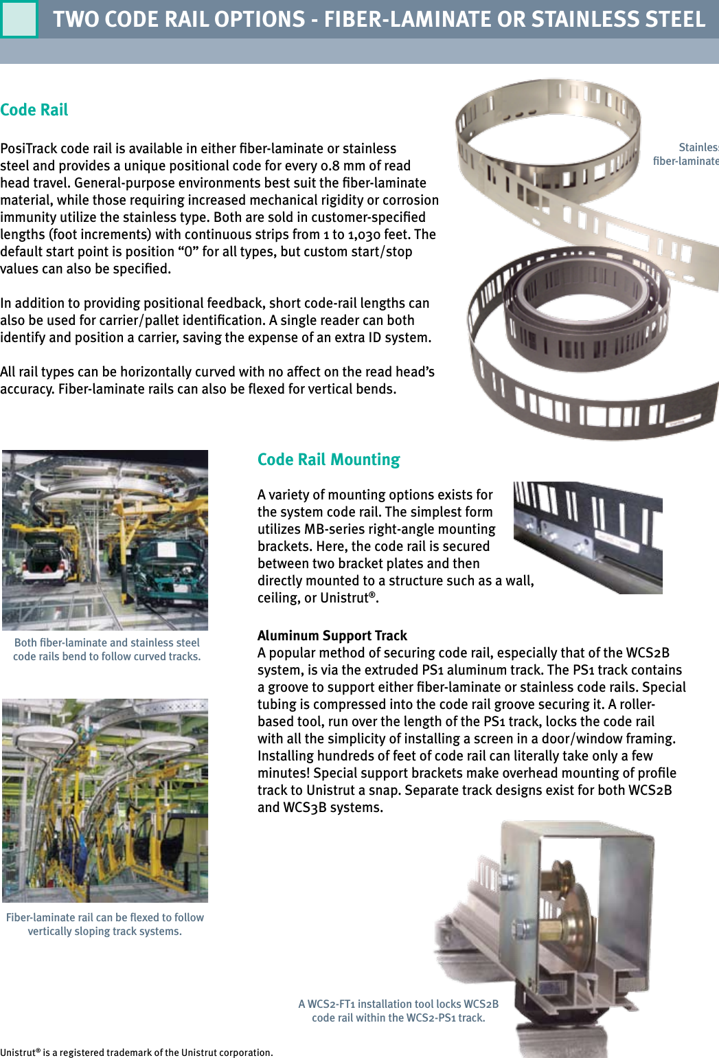 Position Tracking System WCS2B/ WCS3B Brochure