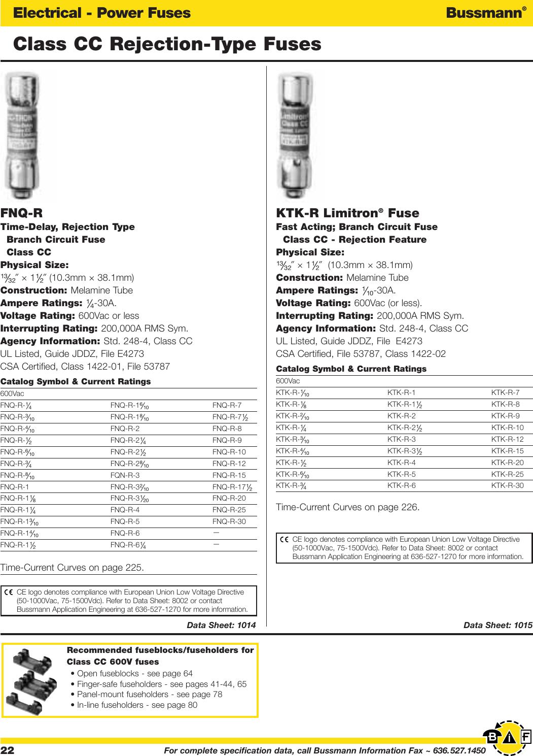 COOPER BUSSMANN BK//HTB-461 Fuse Holder Inline 1//4INCH HTB-4