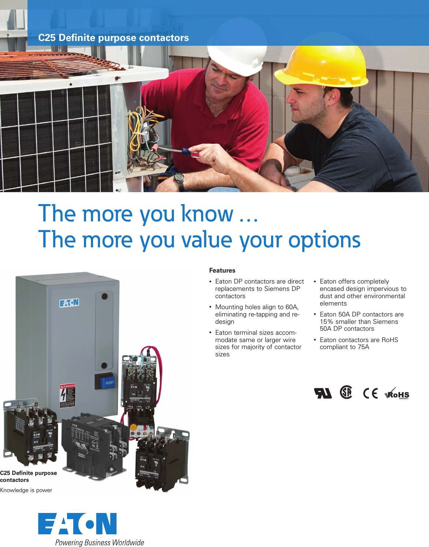 Mz03507001e Brochure Definite Purpose Contactor Wiring Diagram