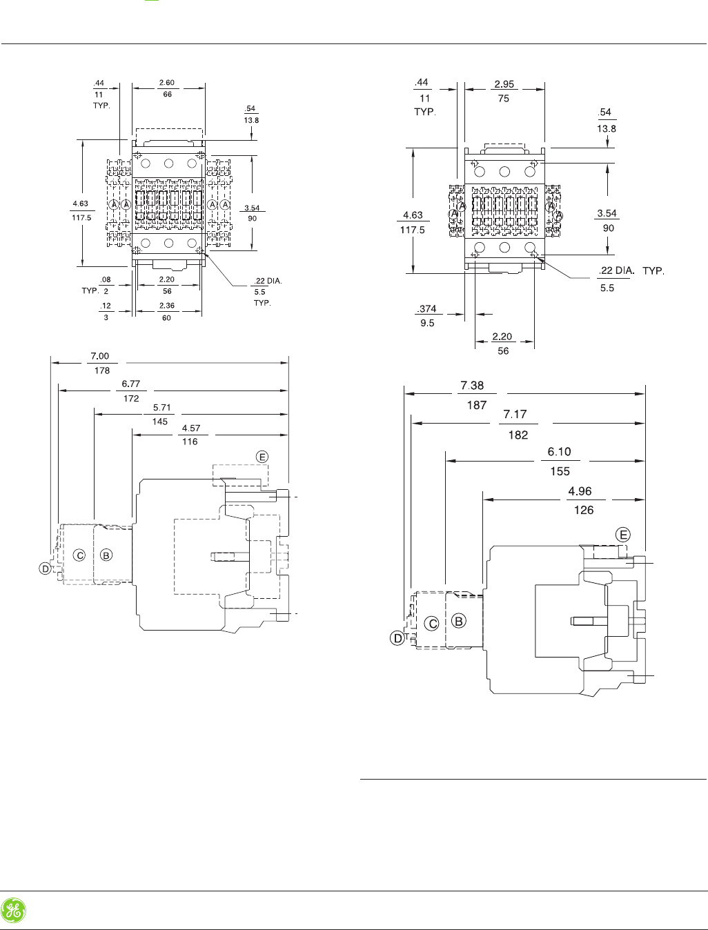 ge control catalog section 5 145378 Outlet Wiring Diagram geindustrial control catalog 5 89