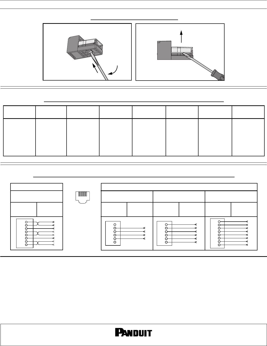panduit rj11 wiring diagram pn45h installation directions  pn45h installation directions