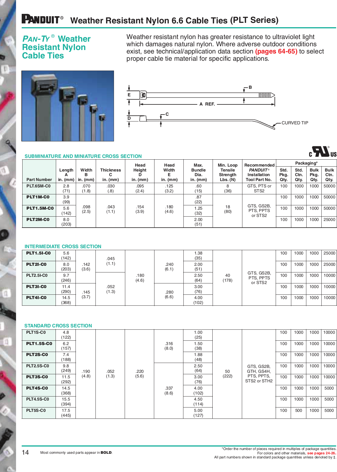 .047 Thickness 0.19 Width Curved Tip Standard Cross Section Nylon 6.6 Panduit PLC3S-S10-C Pan-Ty Clamp Tie Pack of 100 3 Max Bundle Diameter 50lbs Min Tensile Strength #10 Screw Size 12 Length 0.2 Nominal Hole Diameter Plenum-Rated