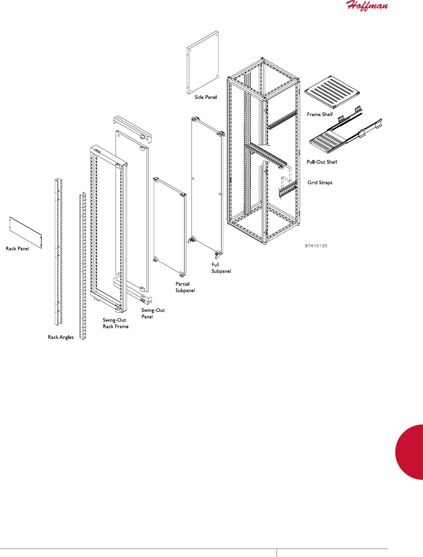Pack of 2 Steel Proline Series Grey Panel 2U 19 Racks P-19RP2UP P-19RP2UP