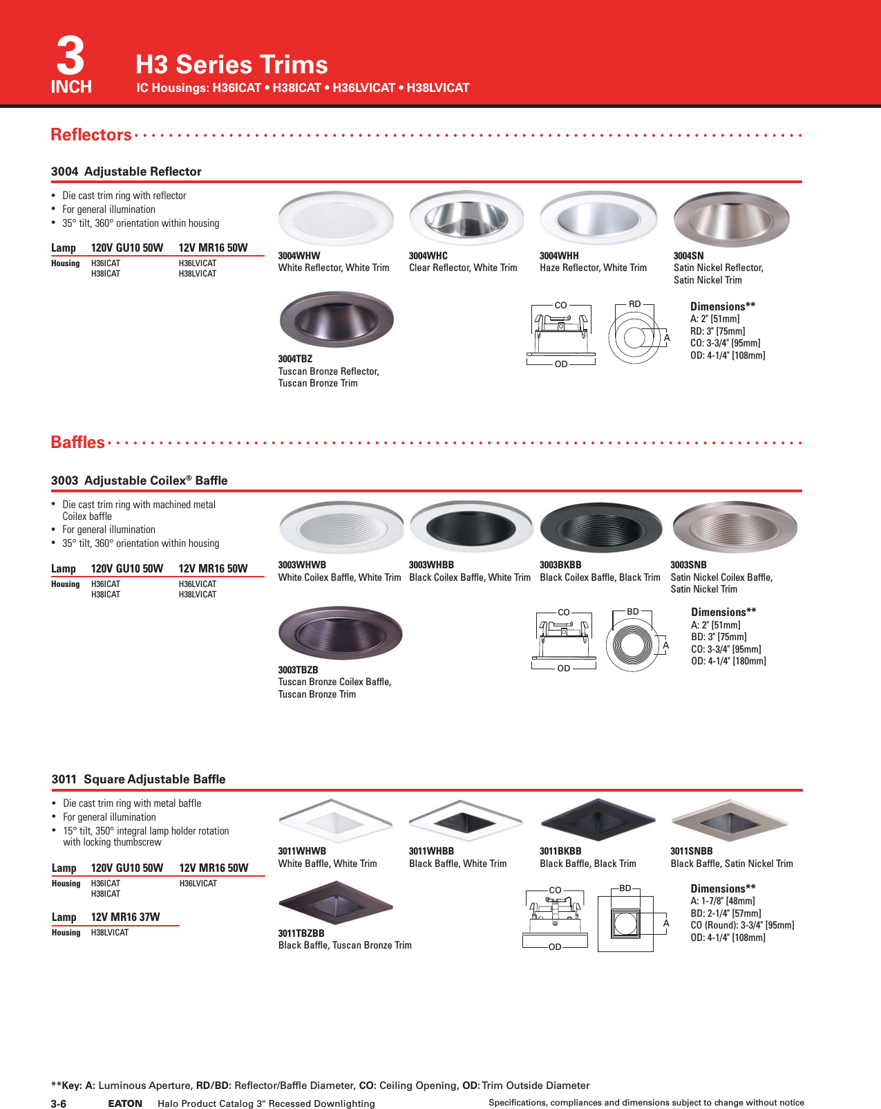 Halo Recessed Catalog 163450 on