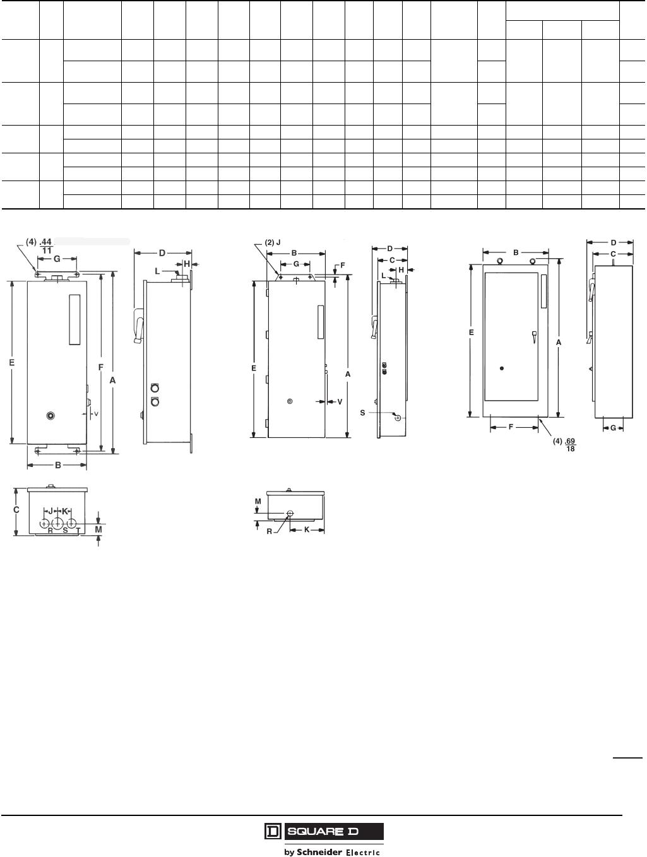 8940ct9701r708 170913 Catalog Details About Square D Kal36100 100 Amp 600 Volts Circuit Breaker Well Guard Control Pump Panels Full Voltageclass 8940