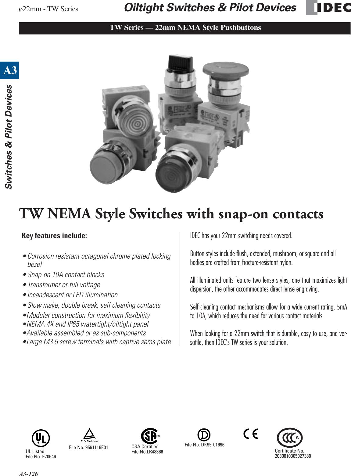 Conntek Ru1030pr Series Nema 10 Manual Guide